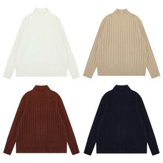 Ribbed Mock Neck Sweater 1063925752