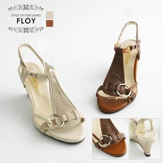 Buy FLOY SHOES T-Strap Wedge Sandals 1023054032