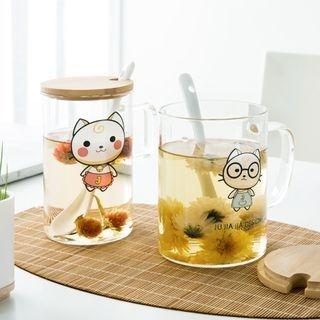 Cat-Print Glass Cup 1061943319
