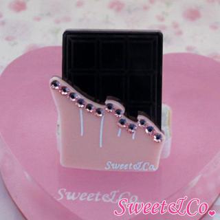 Swarovski   Crystal   Silver   Sweet   Pink   Ring   Size   Bar   One