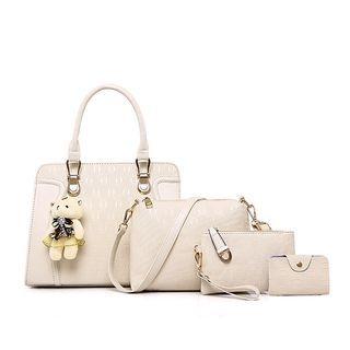 Faux Leather Tote Bag Set 1061365475