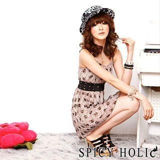 Buy SPICY HOLIC Skull Print Chiffon Dress 1022418310