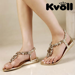 Buy Kvoll Jeweled Thong Sandals 1022987096