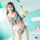 3-pcs Set: Floral Swim Top + Swim Bottom + Skirt 1596