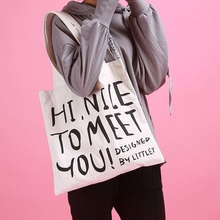 Lettering Canvas Tote Bag 1062637916