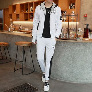Set: Fleece Lined Zip Hoodie + Sweatpants 1055185952
