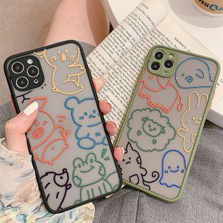 Image of Animal Print Transparent Phone Case - iPhone 11 Pro Max / 11 Pro / 11 / SE / XS Max / XS / XR / X / 8 / 8 Plus / 7 / 7 Plus / 6s / 6s Plus
