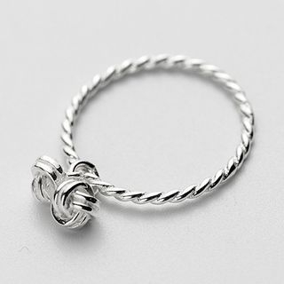 925 Sterling Silver Ribbed Ring 1063852128