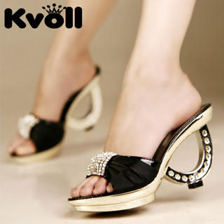 Buy Kvoll Diamante Satin Mules 1022991622