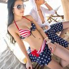 Couple Set: Print Bikini + Swim Skirt / Swim Shorts 1596