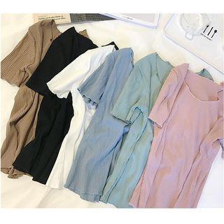 Ribbed Short-Sleeve T-Shirt 1060668251