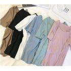Ribbed Short-Sleeve T-Shirt 1596