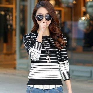 Striped Knit Pullover 1052688393