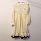 Frill Trim Sleeveless Dress / Long Sleeve Midi Dress 1596