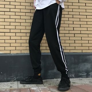 Contrast Trim Sweatpants 1062585177