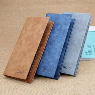Image of Faux Leather Flap Long Wallet