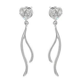 18K White Gold Diamond Earrings - United states