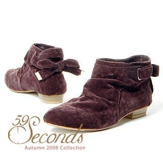 Picture of 59 Seconds Tie-Back Ankle Boots 1012162479 (Boots, 59 Seconds Shoes, Hong Kong Shoes, Womens Shoes, Womens Boots)