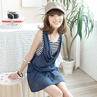 Buy Tokyo Fashion Inset Tank Drop-Waist Sleeveless Dress 1023027626