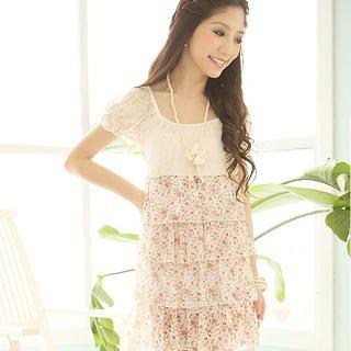 Buy Tokyo Fashion Layered Floral Chiffon Dress 1023028372