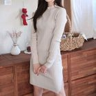 Slit-Side Ribbed Knit Dress 1596