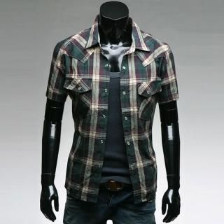 Buy Style YOURS Short-Sleeve Check Shirt 1022557229