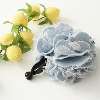 Picture of CatWorld Corsage Lace & Denim Hair Clip 1023028494 (CatWorld Apparel, Womens Fashion, Taiwan Apparel, Taiwan Fashion)
