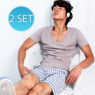 Picture of moscod Set: Striped Knit Vest + Short-Sleeve T-Shirt 1023034890 (moscod, Mens Suits, Korea)