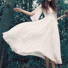 Flutter-Sleeve Maxi Dress 1596