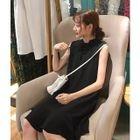 Lace-Up Sleeveless A-Line Dress 1596