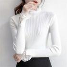 Lace-Trim Knit Top 1596