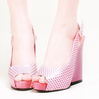 Buy Kvoll Patent Platform Wedges Pumps 1022533236