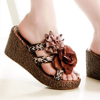 Picture of Kvoll Corsage Wedges Mules 1022533490 (Other Shoes, Kvoll Shoes, China Shoes, Womens Shoes, Other Womens Shoes)