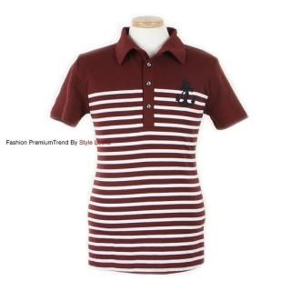 Buy Yellow Jacket Embroidered Stripe Polo Shirt 1022812166