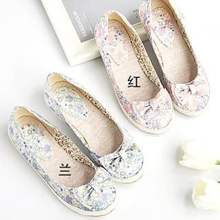 Picture of KAWO Bow Floral Slip-Ons 1023013787 (Slip-On Shoes, KAWO Shoes, China Shoes, Womens Shoes, Womens Slip-On Shoes)