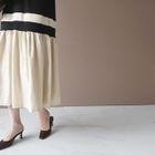 Color-Block Ruffle-Hem Dress 1596