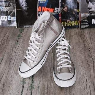 Picture of ISNOM Faux-Leather High-Top Sneakers 1022896058 (Sneakers, ISNOM Shoes, Korea Shoes, Mens Shoes, Mens Sneakers)