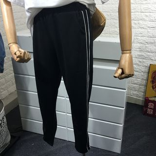 Contrast Trim Sweatpants 1068074031
