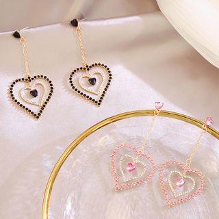 Rhinestone | Earring | Dangle | Heart
