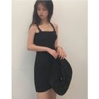 Buckled Strappy Knit Dress 1596