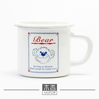 Bear Printed Ceramic Cup 1049130272