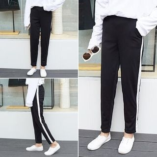 Contrast Trim Sweatpants 1053793473
