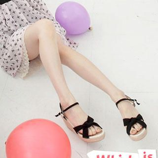 Picture of Wonderland Lace-Up Wedge Sandals 1022889341 (Sandals, Wonderland Shoes, Taiwan Shoes, Womens Shoes, Womens Sandals)
