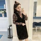 Set: Printed Dress + Lace Jumper Dress 1596