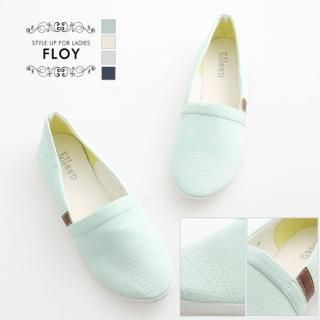 Picture of FLOY SHOES Stitched Canvas Slip-Ons 1023054034 (Slip-On Shoes, FLOY SHOES Shoes, Korea Shoes, Womens Shoes, Womens Slip-On Shoes)