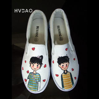 Picture of HVBAO Puppy Love Slip-Ons 1019659031 (Slip-On Shoes, HVBAO Shoes, Taiwan Shoes, Womens Shoes, Womens Slip-On Shoes)