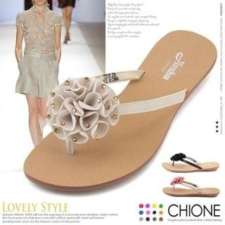 Buy Chione Rosette Thong Sandals 1022794266