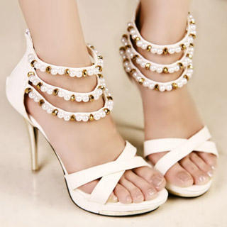 Picture of Kvoll Beaded Strappy Platform Sandals 1022979563 (Sandals, Kvoll Shoes, China Shoes, Womens Shoes, Womens Sandals)