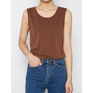 Crewneck Sleeveless Top 1055393866