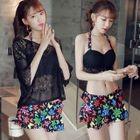 Set: Crochet Top / Bikini Top + Swim Skirt 1596